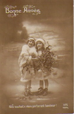Vintage French Christmas Postcard 1912 Bought In