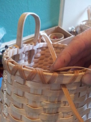 lashing an ash splint basket rim
