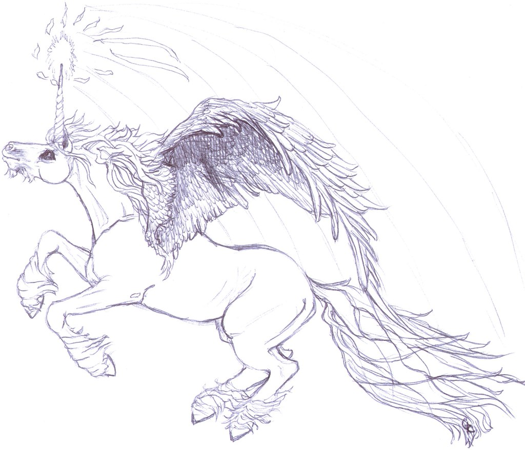 Coloring Book Page Unicorn For FREE Printing And Coloring