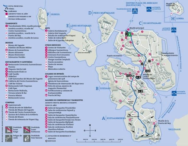 Mapa de Suomelinna