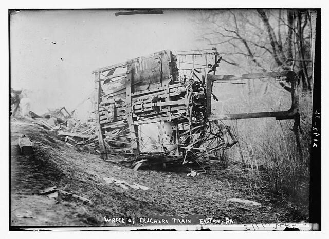 Wreck Of Teachers Train Easton Pa LOC Bain News