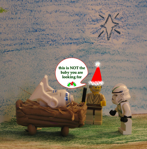 Lego Star Wars Faux Nativity Scene Christmas Card 2007 Ta