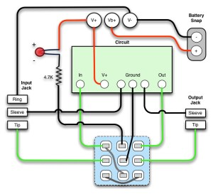 3PDT True Bypass Wiring Diagram | I put this together to