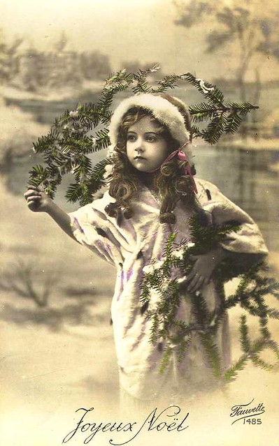 Vintage Postcard Christmas Girl Chicks57 Flickr