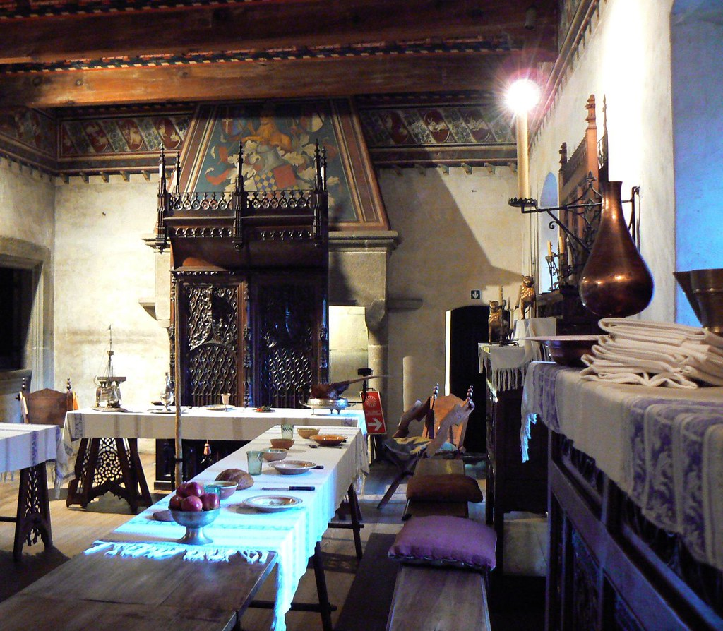 Medieval Village Dining Hall Situated In The Valentino