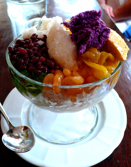 Abe S Halo Halo A Mix Of Preserved Fruits Leche Flan