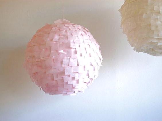 Lamparas de papel crepe