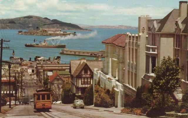 Cable Car Hyde Street San Francisco Vintage Postcard
