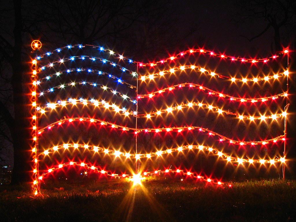 Christmas At Centennial Park 9 US Flag Lights This
