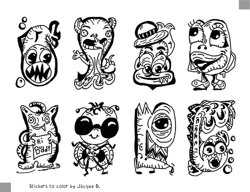 Monster Stickers To Color Stickers To Color Or Already