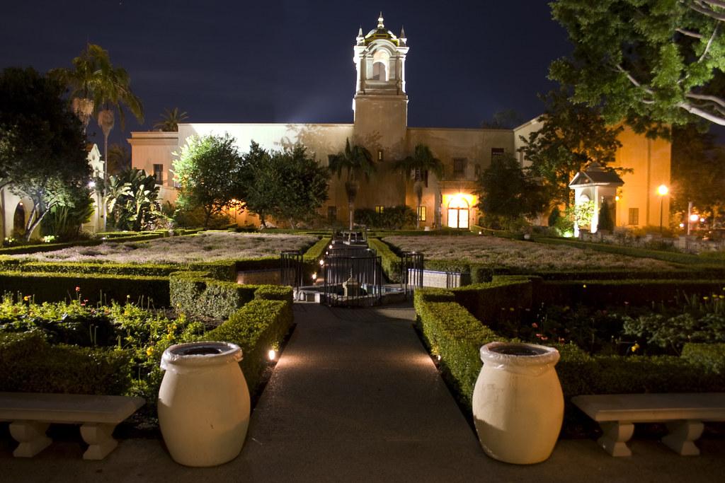 Balboa Park Alcazar Garden At Night Flickr Explore