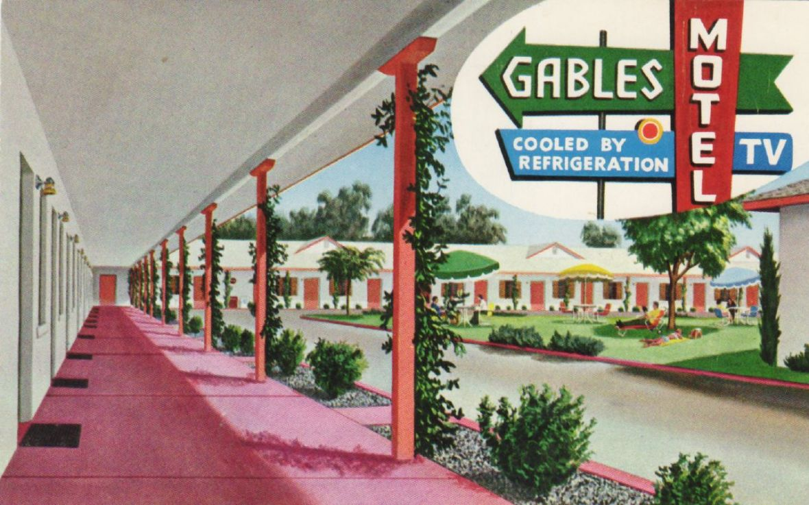 Gables Motel - 2833 East Church Avenue, Fresno, California U.S.A. - date unknown