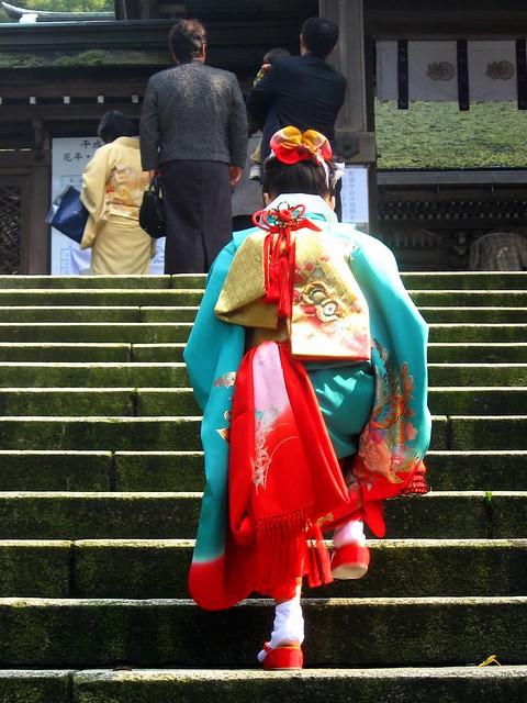 Three The little girl who wore a kimono in the Seven-Five-Three ...