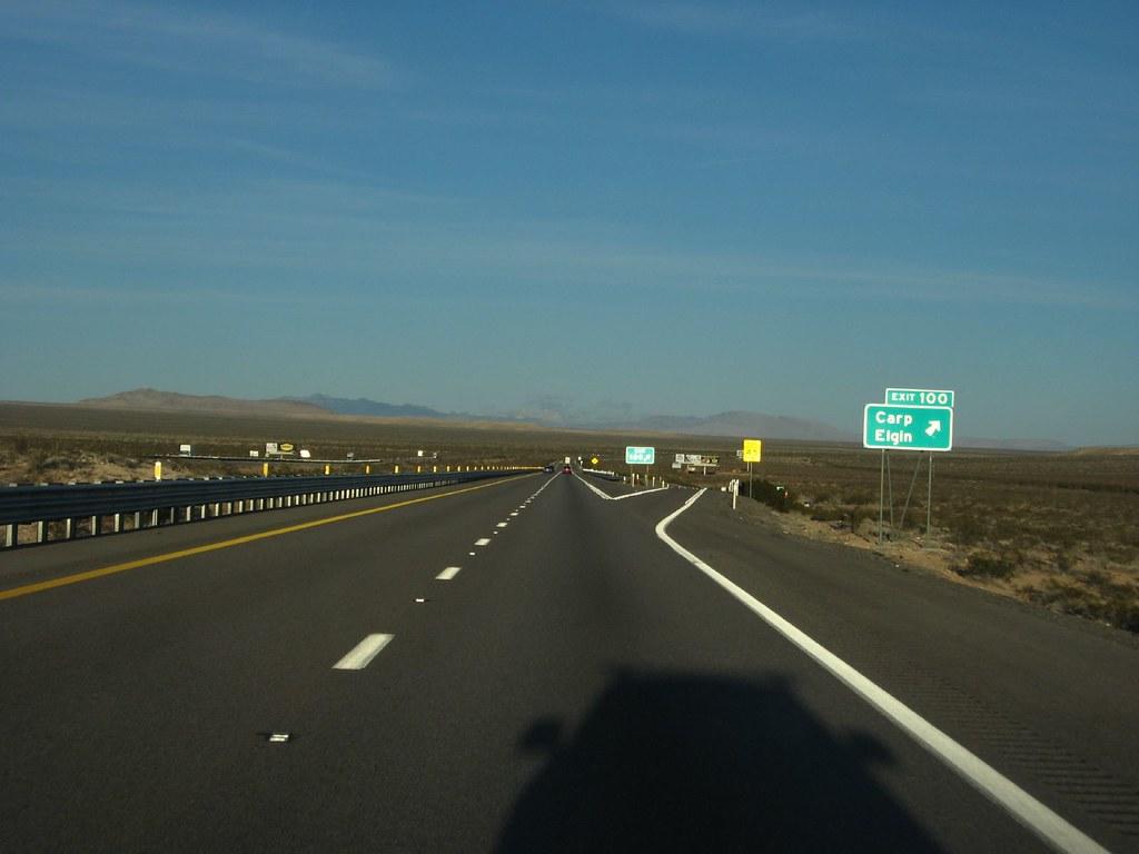 Elgin Carp Exit Interstate 15 Between Las Vegas Nevada A