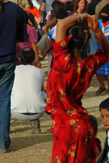 Woman In Red La Garrucha Chiapas Mexico This Photo