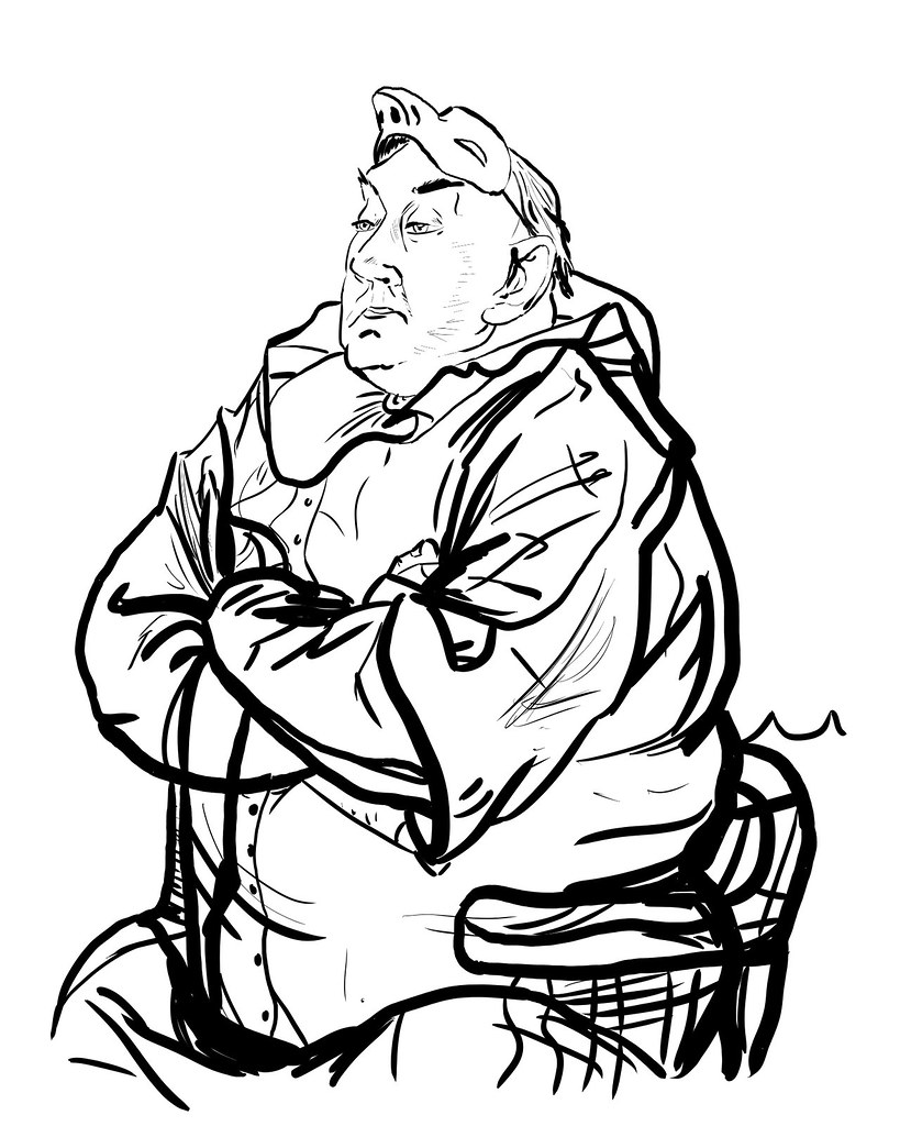 Daily Drawing 14 Drawing Rico Lebruns Seated Clown With