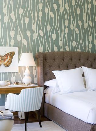 Modern Wallpaper Lovely Green Brown White Bedroom F