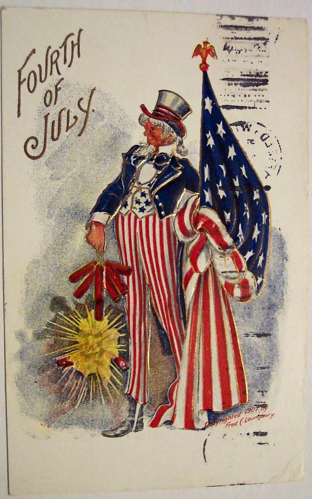 Vintage Fourth Of July Postcard Dave Flickr