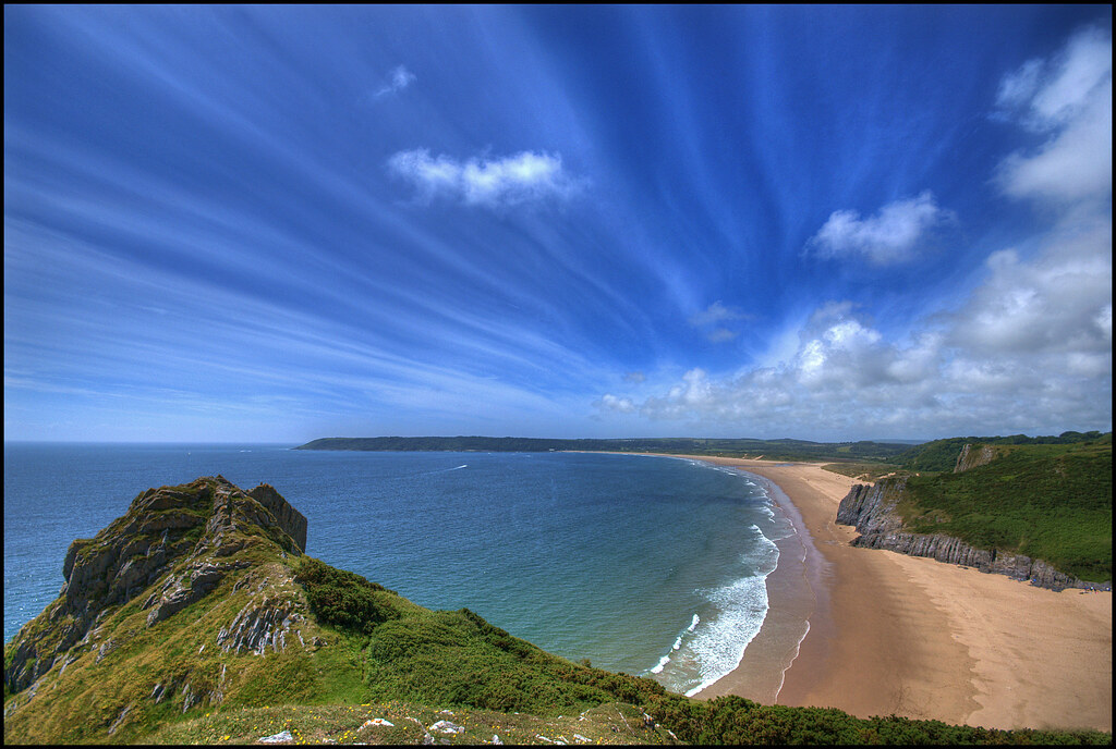 Oxwich Bay With Tor Bay In The Foreground Another From