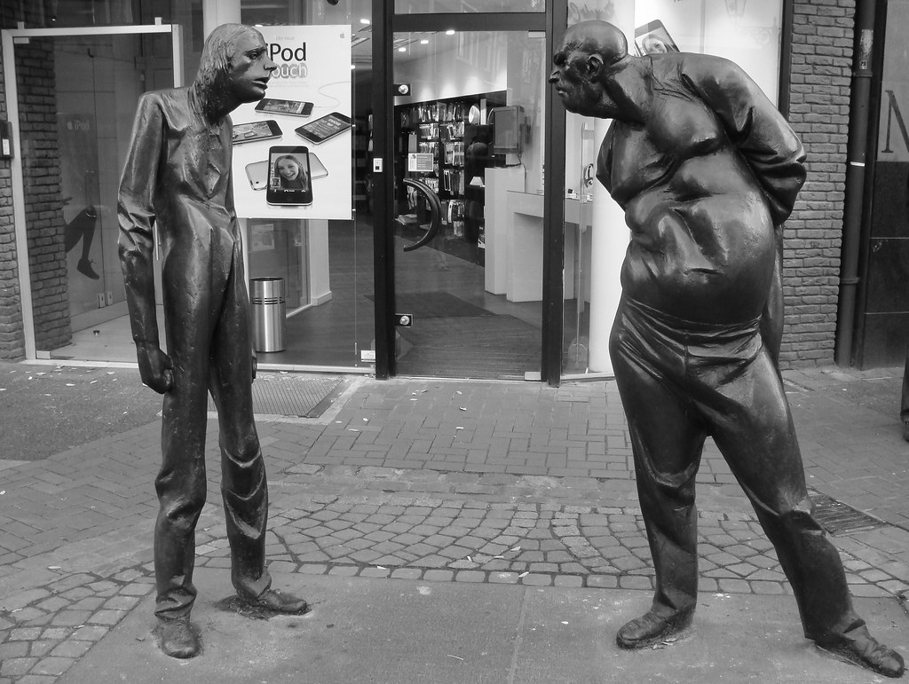 Fat And Thin Man Dusseldorf