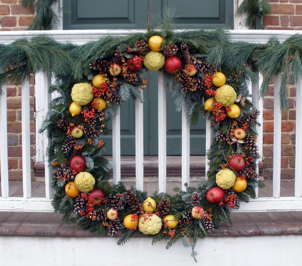 Fruit Amp Pine Cone Christmas Wreath Every Christmas