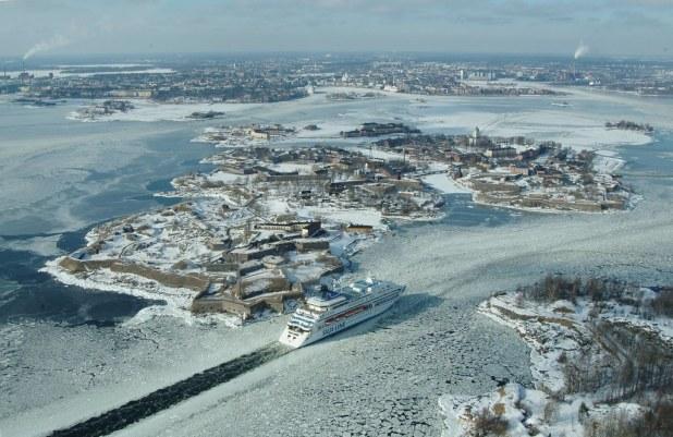 Vista aerea de Suomelinna