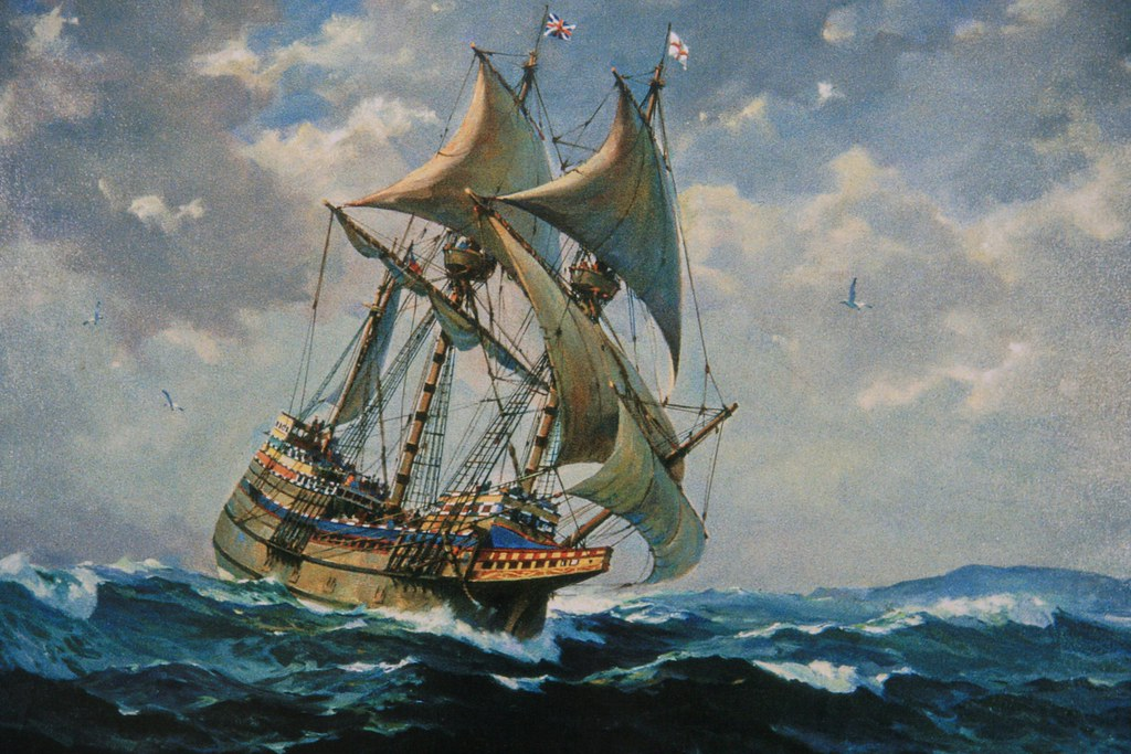 Mayflower And Big Storm