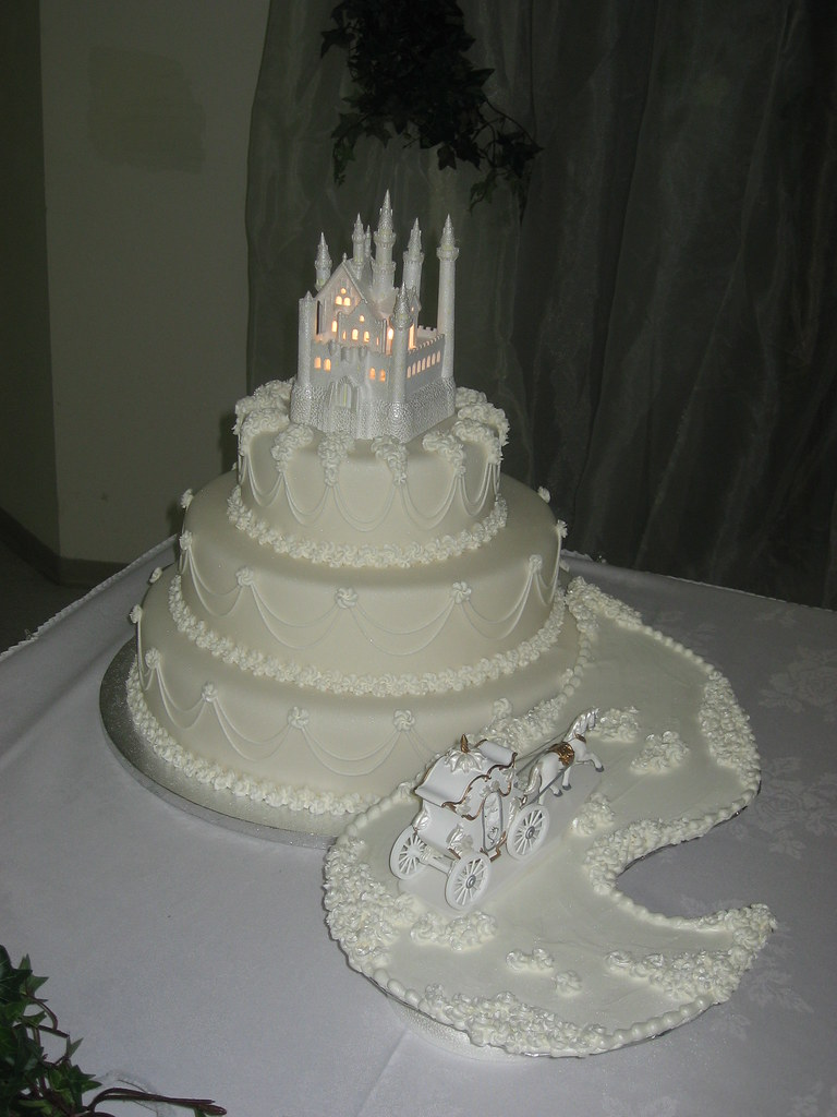 Fairy Tale Wedding Cake 3 Tier Wedding Cake Covered In