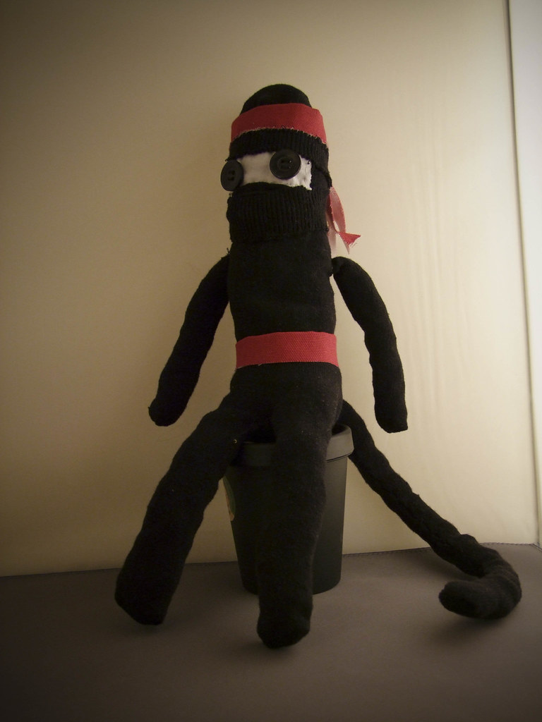 Ninja Sock Monkey For My Blog Thingsivemadewordpress