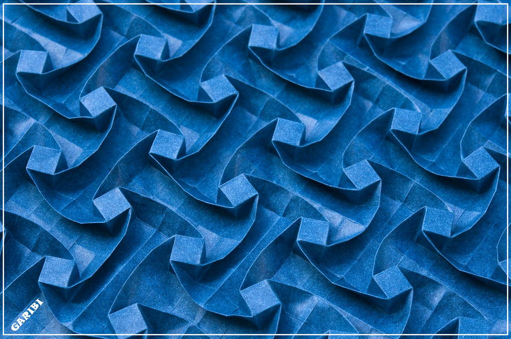 Waves Elephant Hide Deep Blue Color A Twist With A