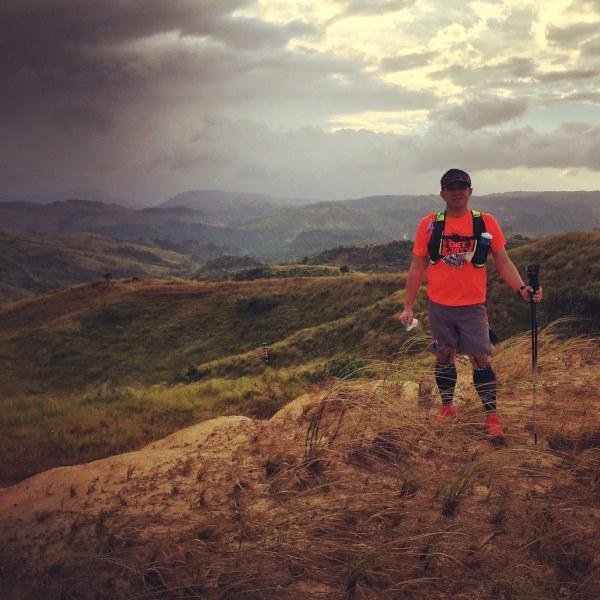 At the peak of Mount Susong Dalaga after 3.5 kilometers of climbing.