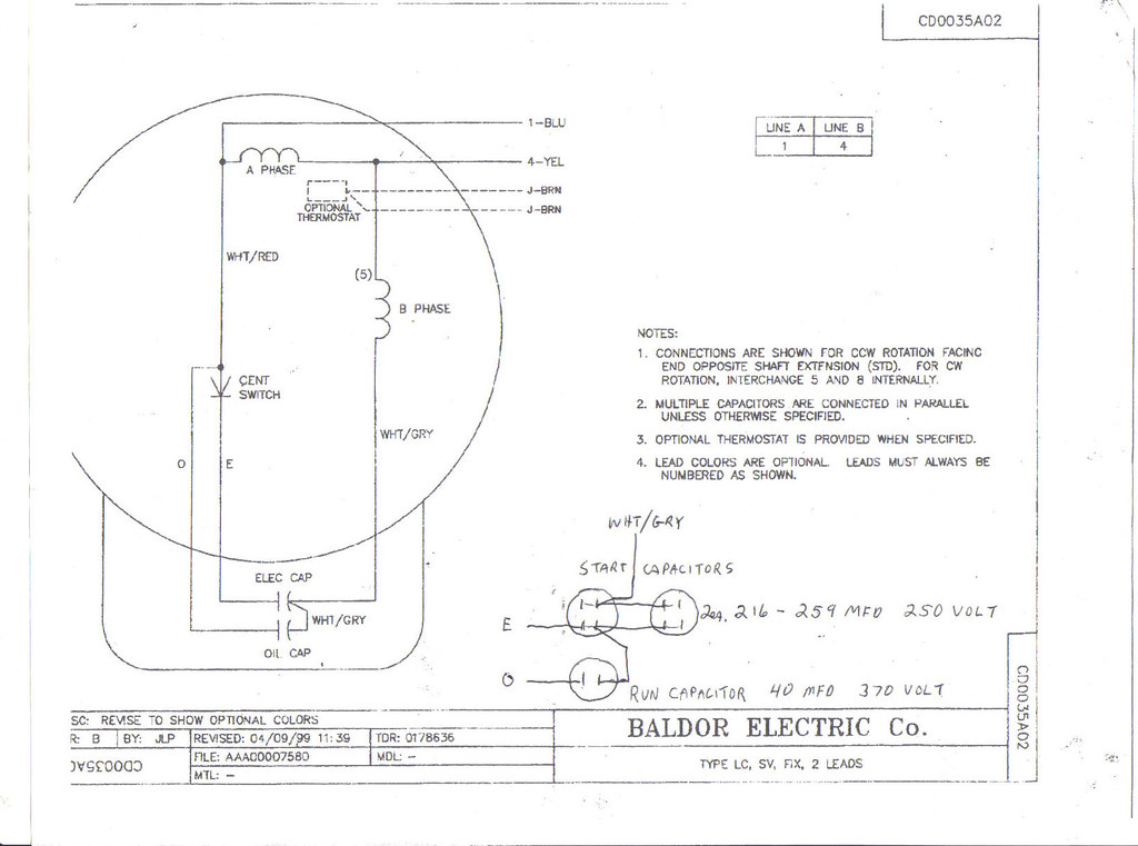 Lovely Baldor Motor Capacitor Wiring Diagram Contemporary