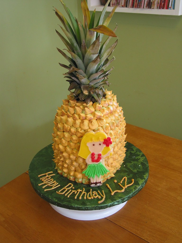 Pineapple Cake Made For My Niece S Birthday That S A Real Flickr