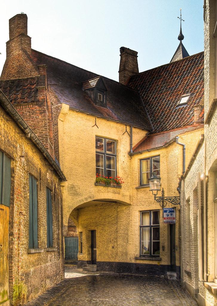 Quaint Old House In Bruges Belgium Anguskirk Flickr