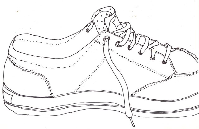 1 Draw A Shoe Today I Was Teaching My 5th Grade