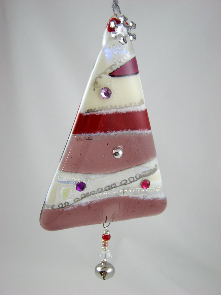 Fused Glass Christmas Ornament Handcrafted Fused Glass
