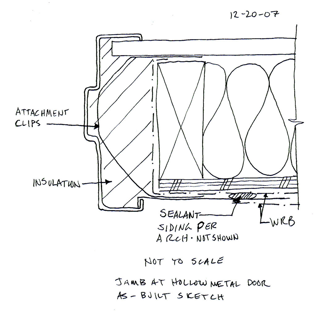 Hollow Metal Jamb Detail In Wood Frame Construction