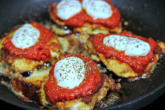 Chicken Parm Skillet Top