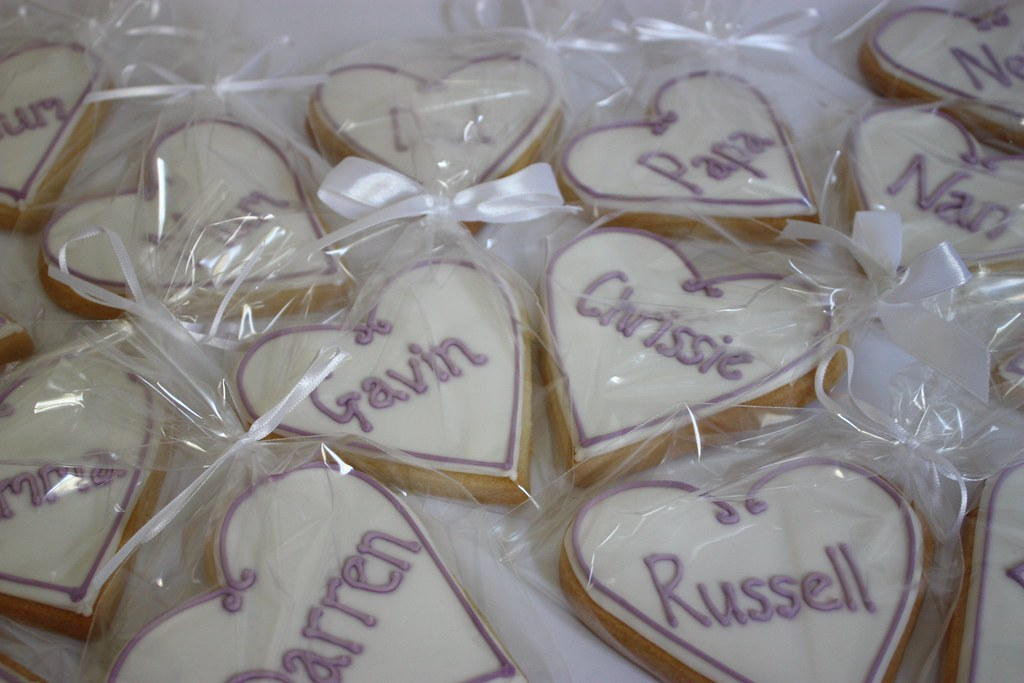 Personalised Placecard Wedding Cookies Just A Small