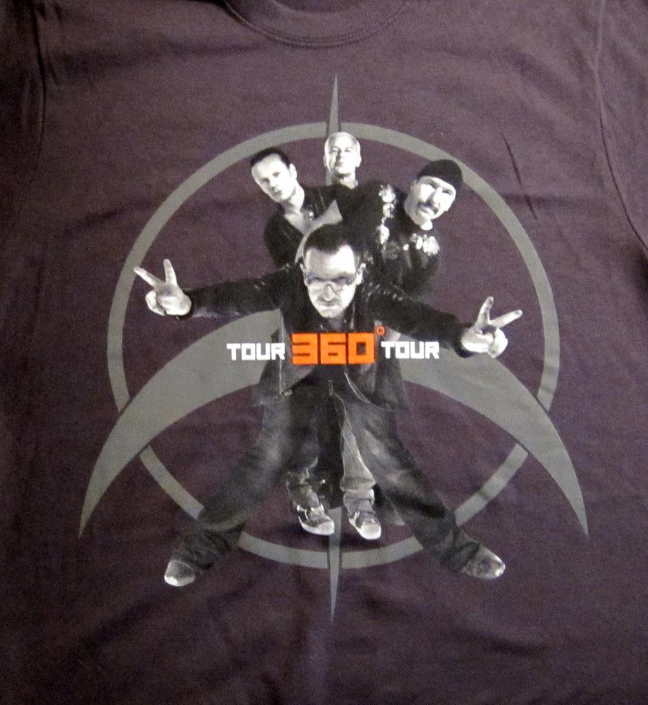 U2 360 176 Tour Official T Shirt Front U2 360 176 Tour