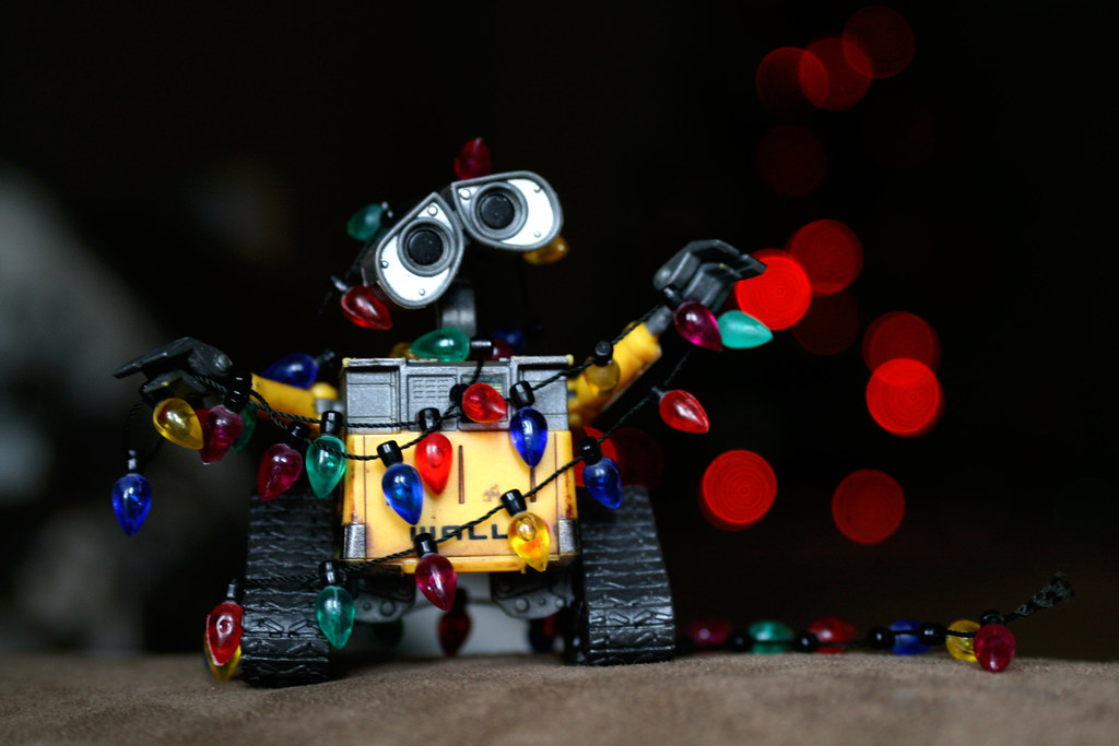 Tangled Up In Christmas Wall E Is Trying To Help