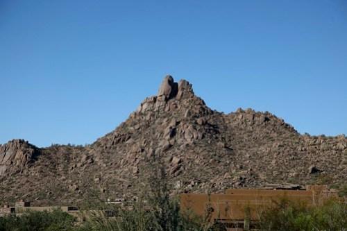 View of Pinnacle peak in Scottsdale arizona