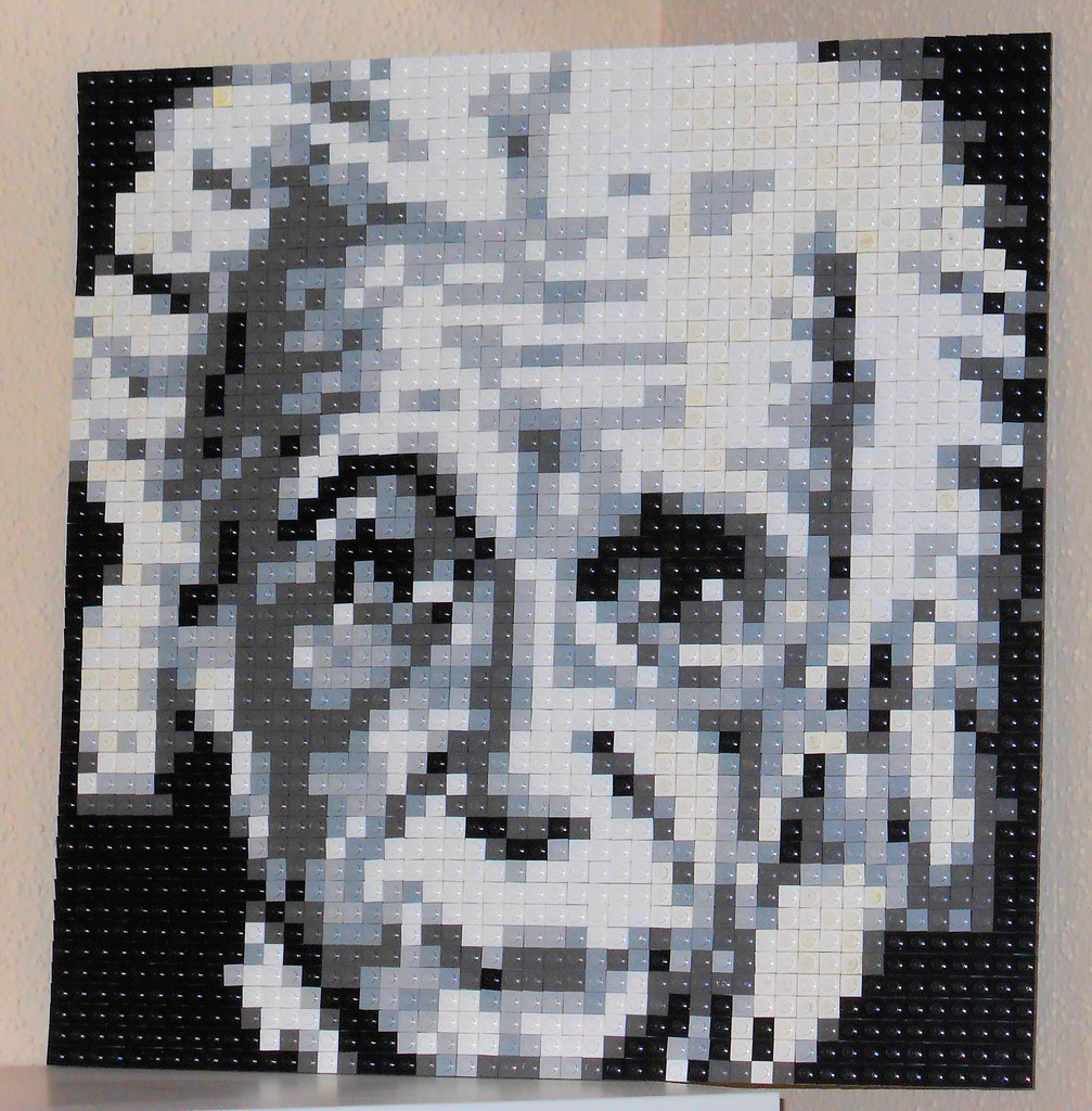 Albert Einstein LEGO Mosaic   Einstein grayscale Lego mosaic      Flickr     Albert Einstein LEGO Mosaic   by JRBricks