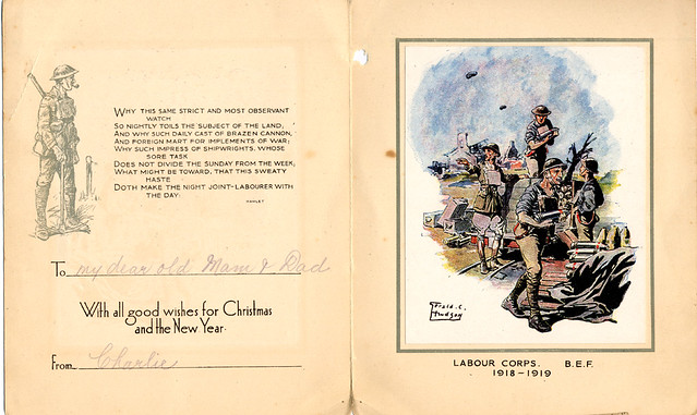 Army Issue WWI Christmas Card Army Issue WWII Christmas