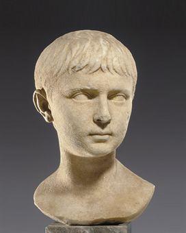 Gaius Caesar Lucius Caesar A ROMAN MARBLE PORTRAIT