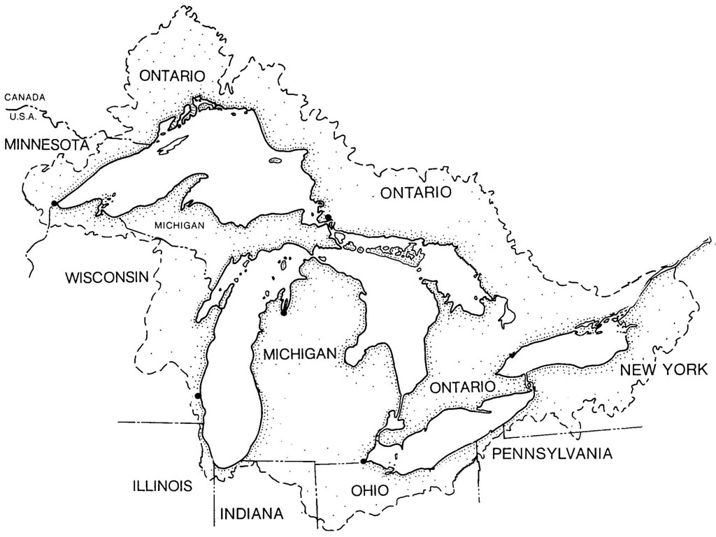 Basin Map Of The Great Lakes