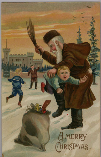 Dont Piss Off Santa Postcard A Brown Robed Father