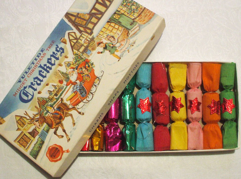 1950s Christmas Crackers With A Motley Assortment Inside