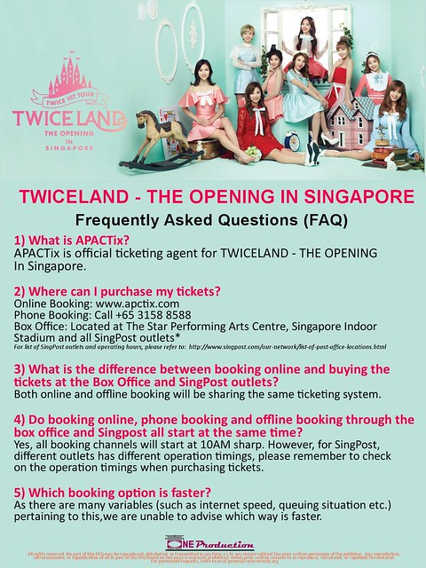 TWICELAND - The Opening – in Singapore FAQ1