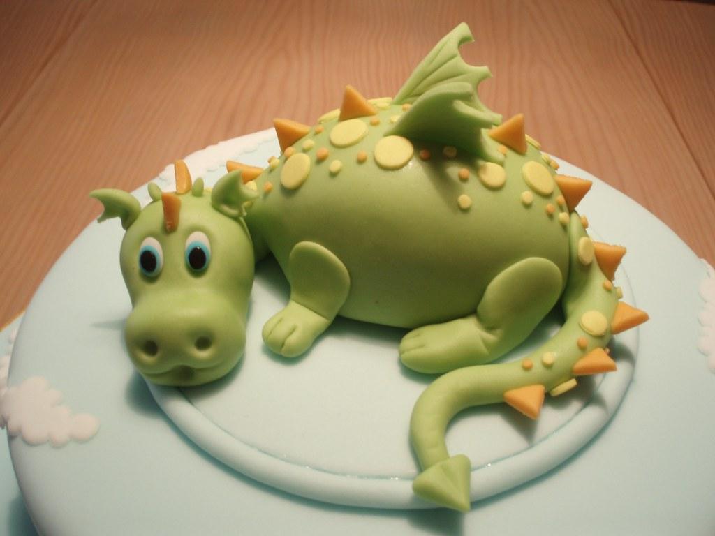Baby Dragon Cake Topper
